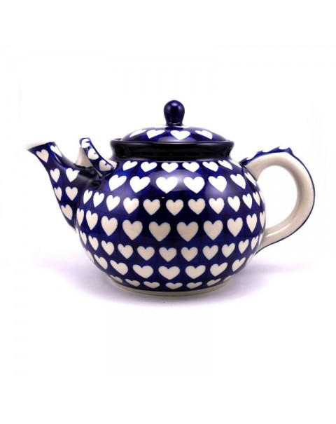 3.5 PINTS VERY LARGE LOVE HEARTS TEAPOT NEW