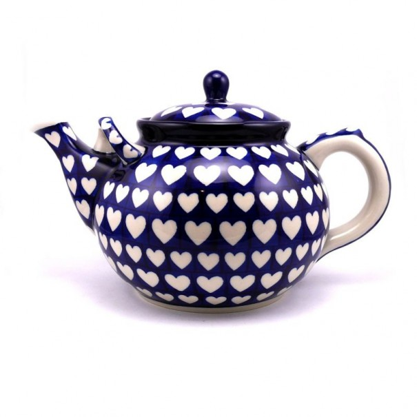 (SOLD) 3.5 PINTS VERY LARGE LOVE HEARTS TEAPOT NEW