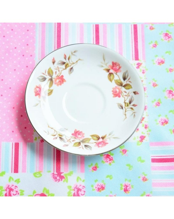 MAYFAIR PINK FLORAL SAUCER