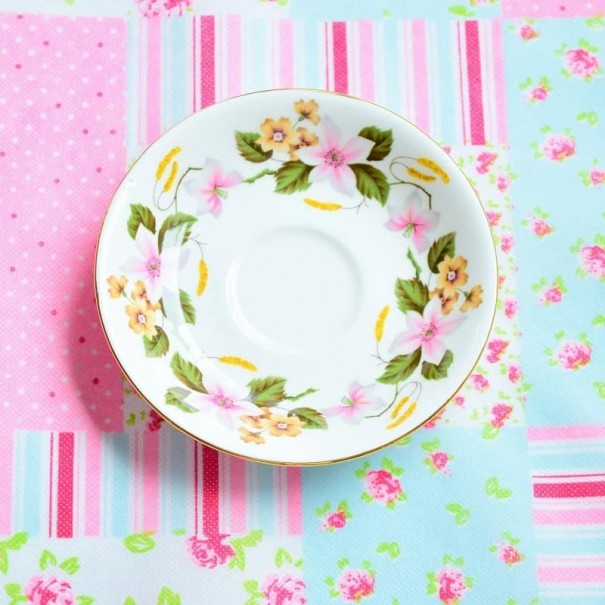 ROYAL IMPERIAL CLEMATIS SAUCER