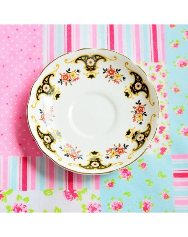 (SOLD) BLACK AND GOLD SAUCER