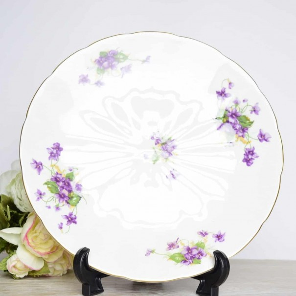 (OUT OF STOCK) ADDERLEY VIOLETS CAKE PLATE