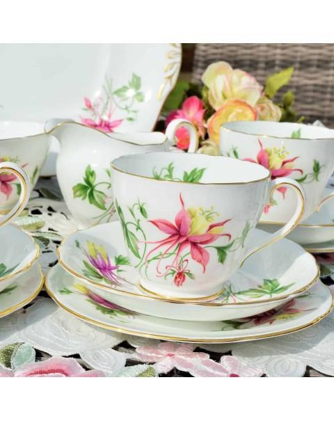 (OUT OF STOCK) ADDERLEY LEOLUMBINE TEA SET