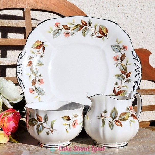 (OUT OF STOCK) ADDERLEY BEECHWOOD CAKE PLATE SET