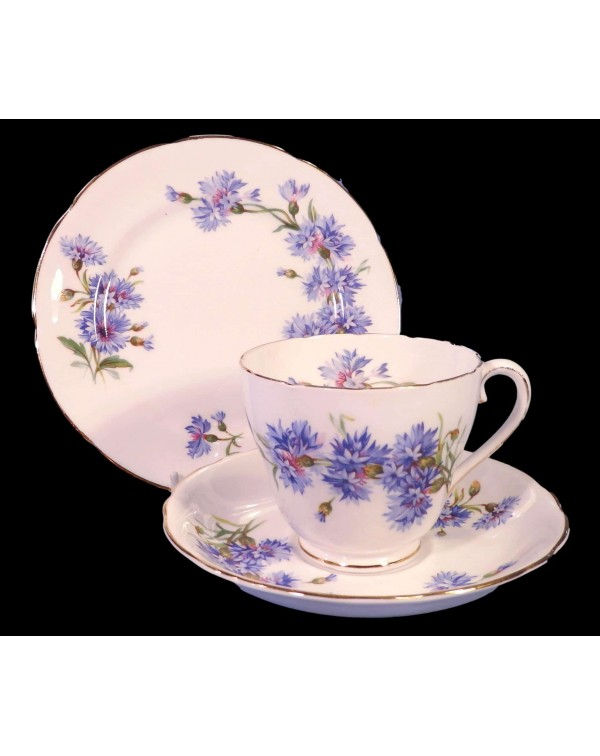 ROYAL ADDERLEY CORNFLOWER TEA TRIO