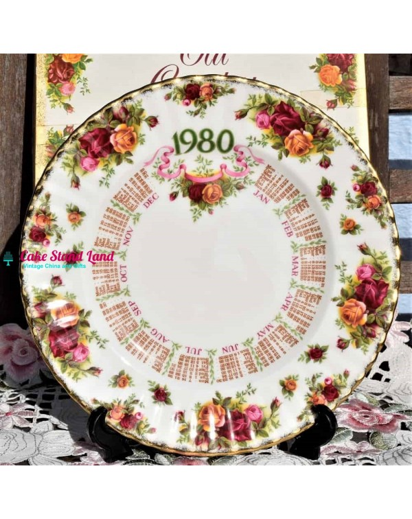 (SOLD) OLD COUNTRY ROSES 1980 CALENDAR PLATE