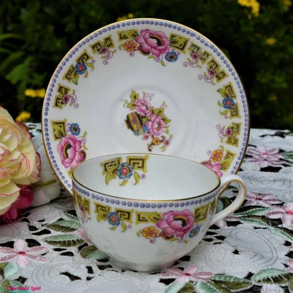 ALLERTONS PINK PEONY TEA CUP & SAUCER