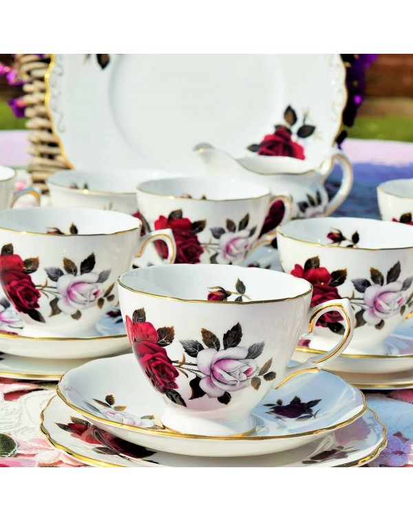 (OUT OF STOCK) COLCLOUGH AMORETTA TEA SET