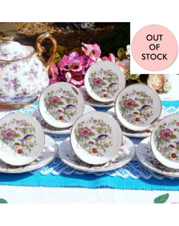 (OUT OF STOCK) AYNSLEY PEMBROKE TEA SET