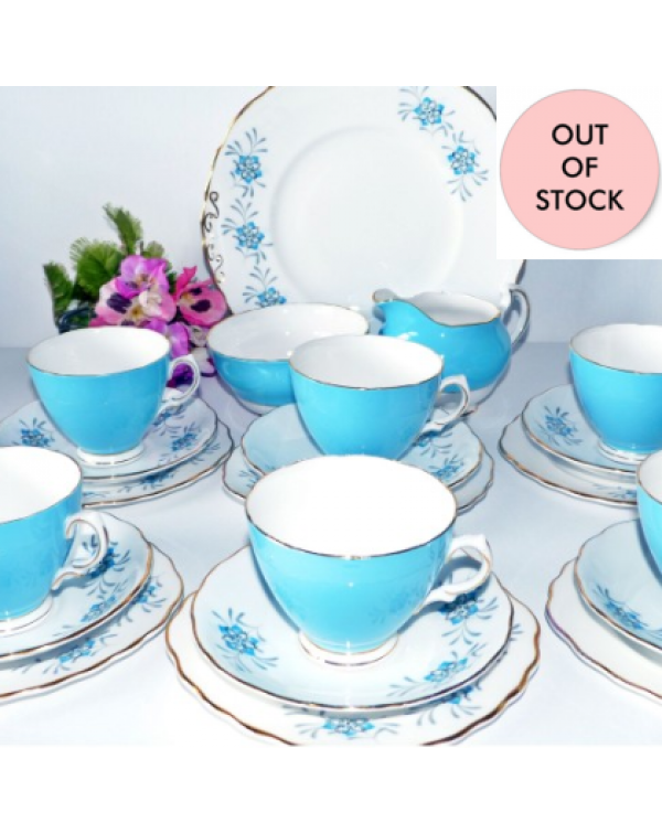 (OUT OF STOCK) COLCLOUGH CHINA VINTAGE TEA SET FOR...