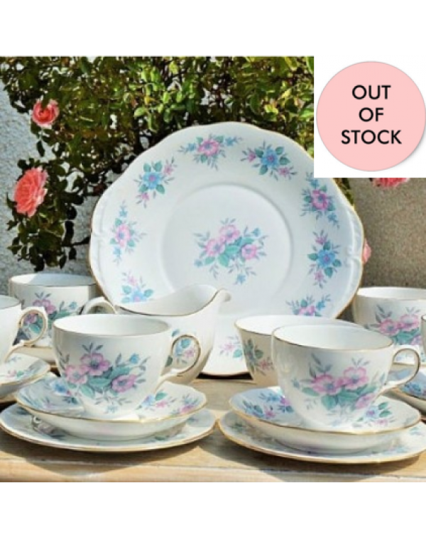 (OUT OF STOCK) COLCLOUGH FLORAL TEA SET