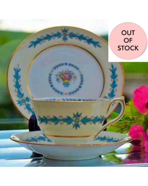 (OUT OF STOCK) AYNSLEY GARLAND TEA TRIO