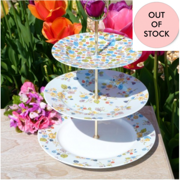 (OUT OF STOCK) CATH KIDSTON WOODLAND ROSE NEW CAKE STAND