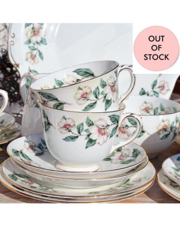 (OUT OF STOCK) CHRISTMAS ROSE TEA TRIO