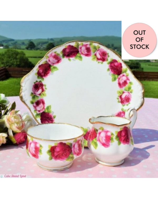 (OUT OF STOCK)  ROYAL ALBERT OLD ENGLISH ROSE CAKE...