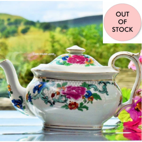 (OUT OF STOCK) BOOTHS FLORADORA TEAPOT