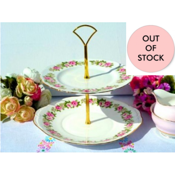(OUT OF STOCK) COLCLOUGH ENCHANTMENT VINTAGE CAKE STAND