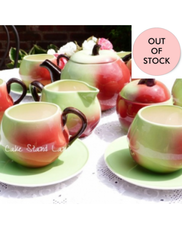 (OUT OF STOCK) CARLTON WARE APPLE TEAPOT SET
