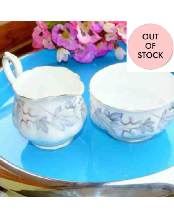 (OUT OF STOCK)  ROYAL ALBERT SILVER MAPLE MILK JUG...