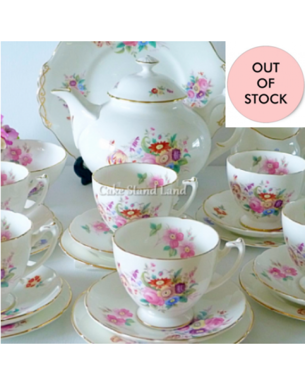 (OUT OF STOCK) COALPORT JUNETIME TEA SET