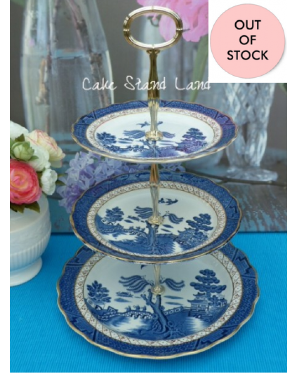 (OUT OF STOCK) BOOTHS REAL OLD WILLOW CAKE STAND