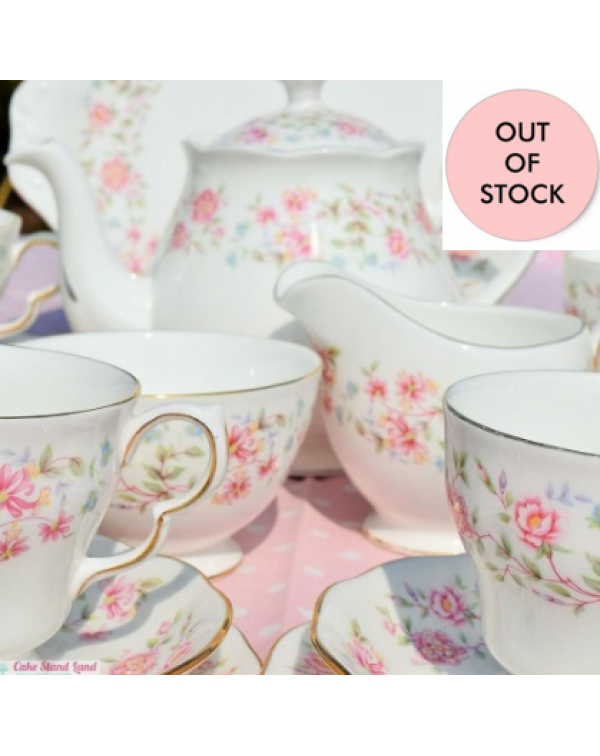 (OUT OF STOCK) COLCLOUGH BOUQUET TEA SET WITH TEAP...