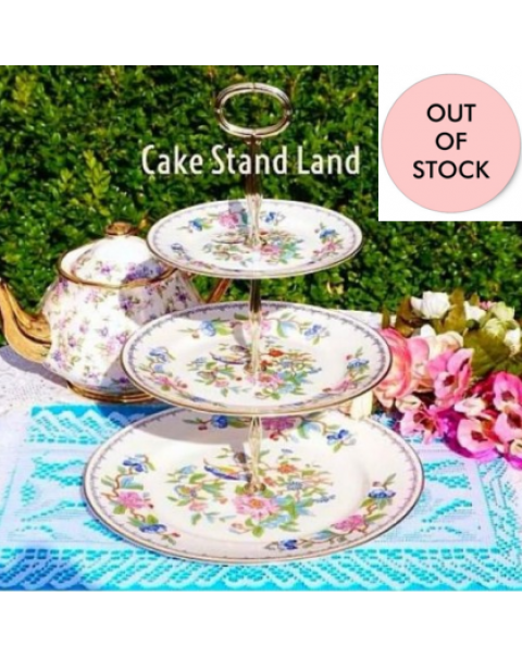 (OUT OF STOCK) AYNSLEY PEMBROKE CAKE STAND