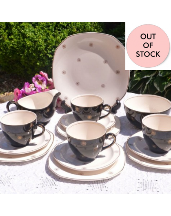(OUT OF STOCK) ALFRED MEAKIN  Vintage tea set Midn...