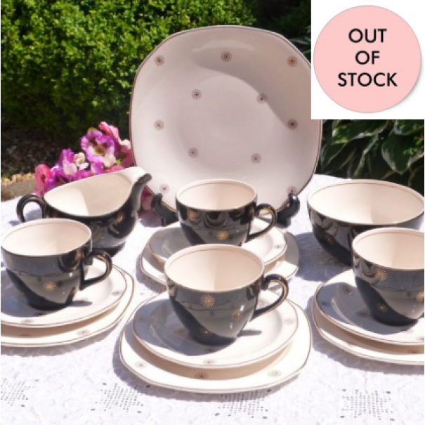 (OUT OF STOCK) ALFRED MEAKIN  Vintage tea set Midnight Star