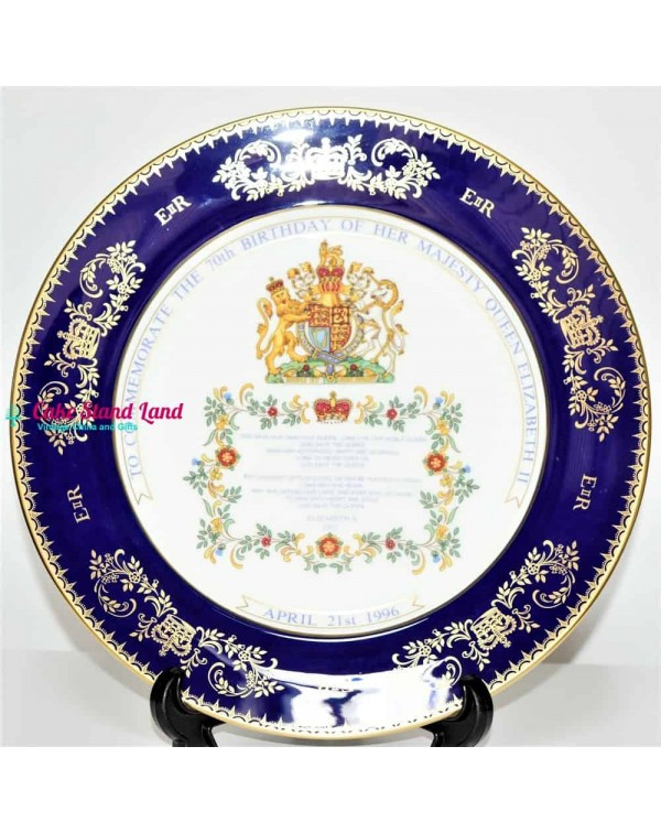 AYNSLEY LARGE COMMEMORATIVE PLATE