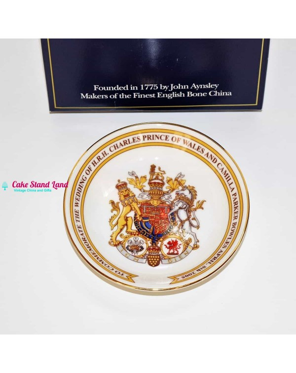 AYNSLEY COAT OF ARMS TRINKET DISH