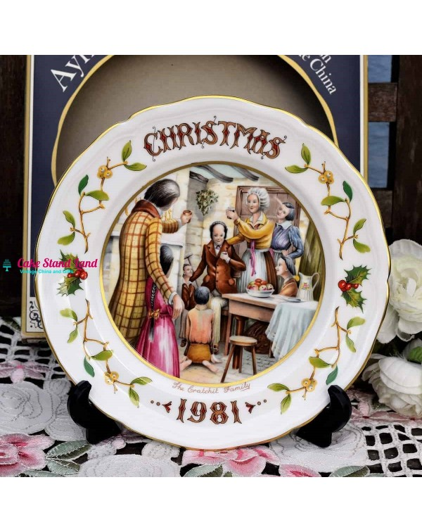 AYNSLEY CHRISTMAS 1981 THE CRACHIT FAMILY