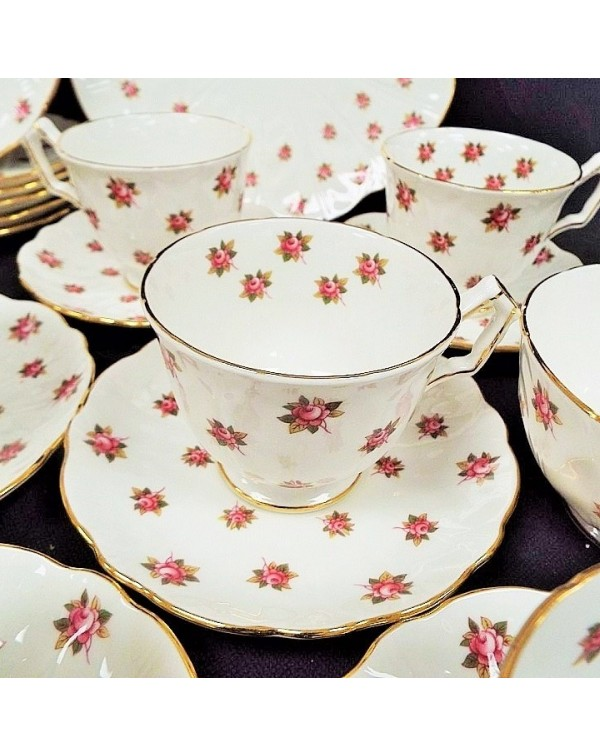 (OUT OF STOCK) AYNSLEY ROSE BUD TEA SET