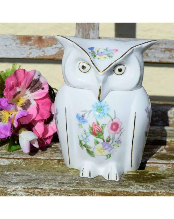 AYNSLEY WILD TUDOR OWL TRINKET BOX