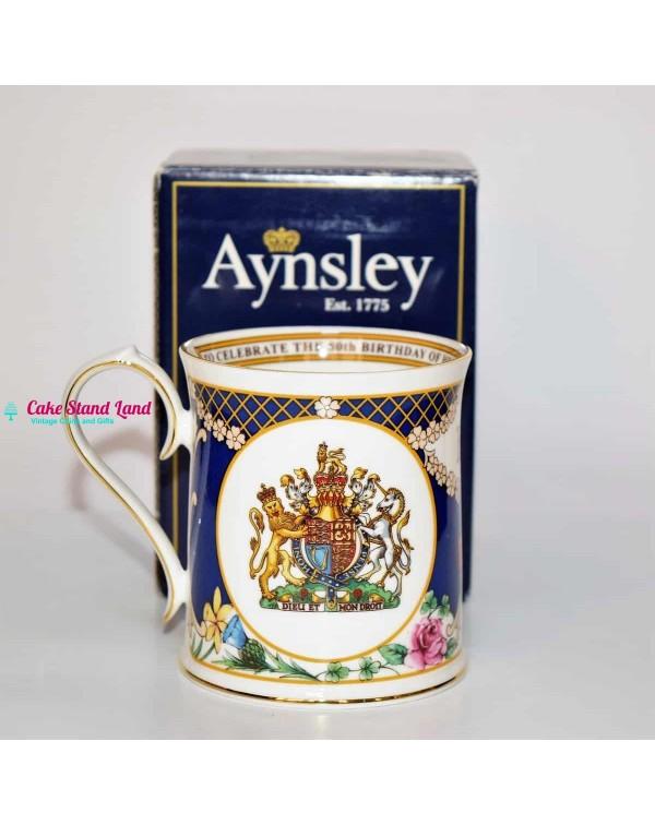 (SOLD) AYNSLEY COMMEMORATIVE MUG