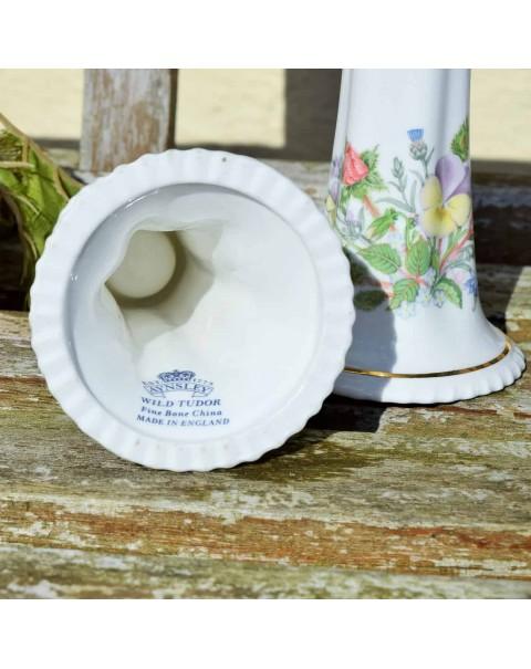AYNSLEY WILD TUDOR CANDLE STICKS PAIR