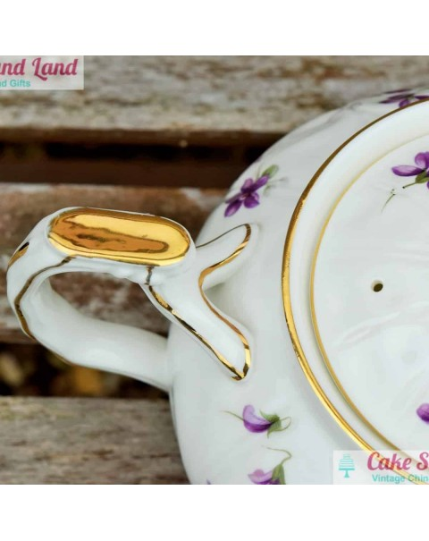 (OUT OF STOCK) AYNSLEY VIOLETTE LARGE TEAPOT