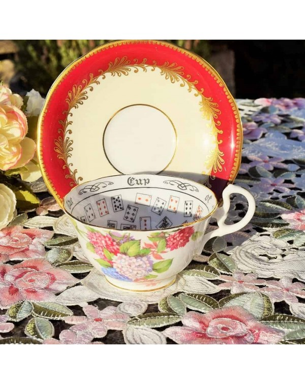 AYNSLEY CUP OF KNOWLEDGE TEA CUP & SAUCER