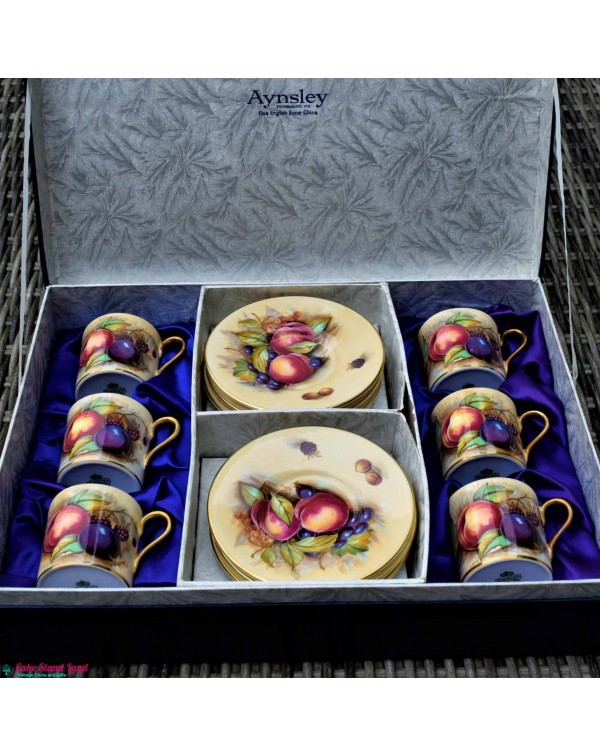 (SOLD) AYNSLEY ORCHARD GOLD SET