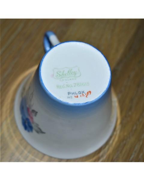 (SOLD) SHELLEY BLUE PHLOX TEA SET