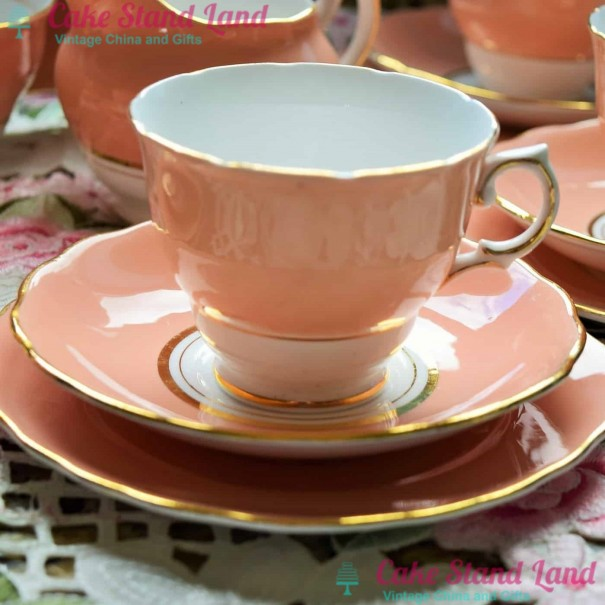 (OUT OF STOCK) COLCLOUGH PINK TEA TRIO
