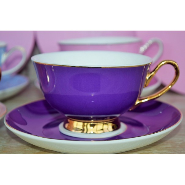 (OUT OF STOCK) BOMBAY DUCK PINK TEA CUP & SAUCER