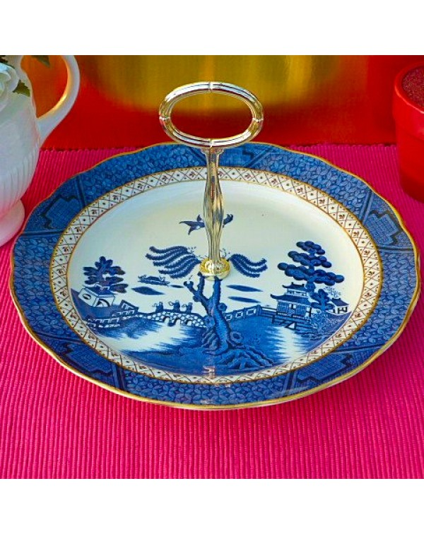 BOOTHS REAL OLD WILLOW CAKE PLATE