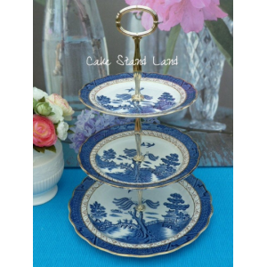 BOOTHS REAL OLD WILLOW CAKE STAND