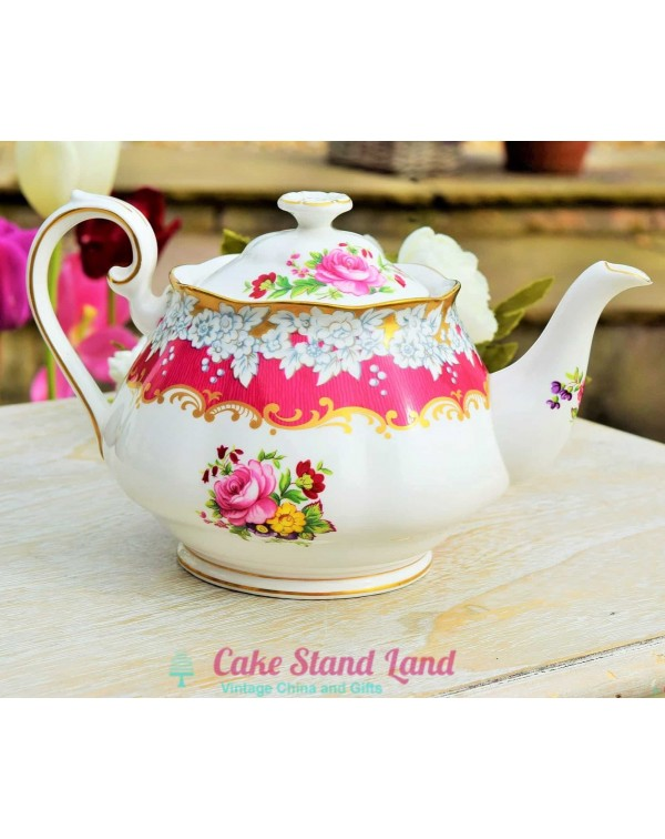 (OUT OF STOCK) ROYAL ALBERT BRIGHTON ROSE TEAPOT V...