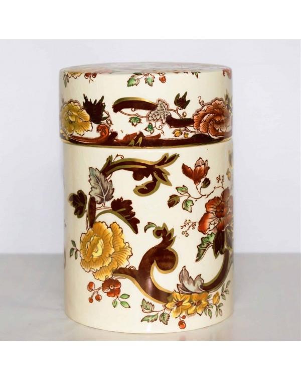 MASONS BROWN VELVET LIDDED COLUMN JAR