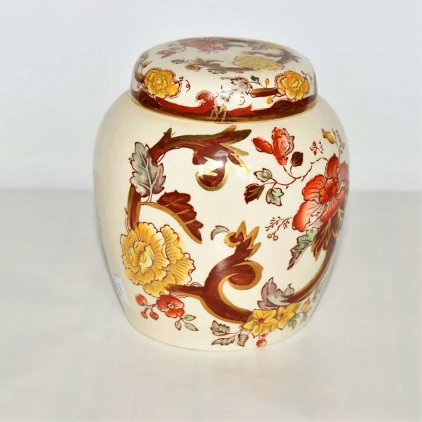 MASONS BROWN VELVET SMALL GINGER JAR