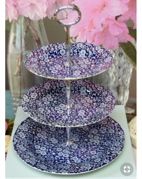 (OUT OF STOCK) BLUE CALICO 3 TIER CAKE STAND
