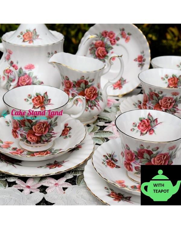 (SOLD) ROYAL ALBERT CENTENNIAL ROSE TEA SET
