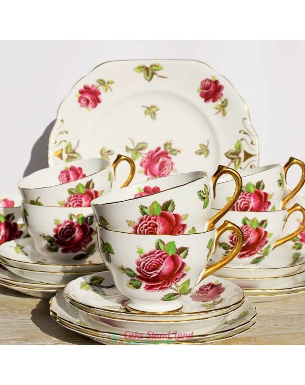 (OUT OF STOCK) NEW CHELSEA RED ROSE TEA SET